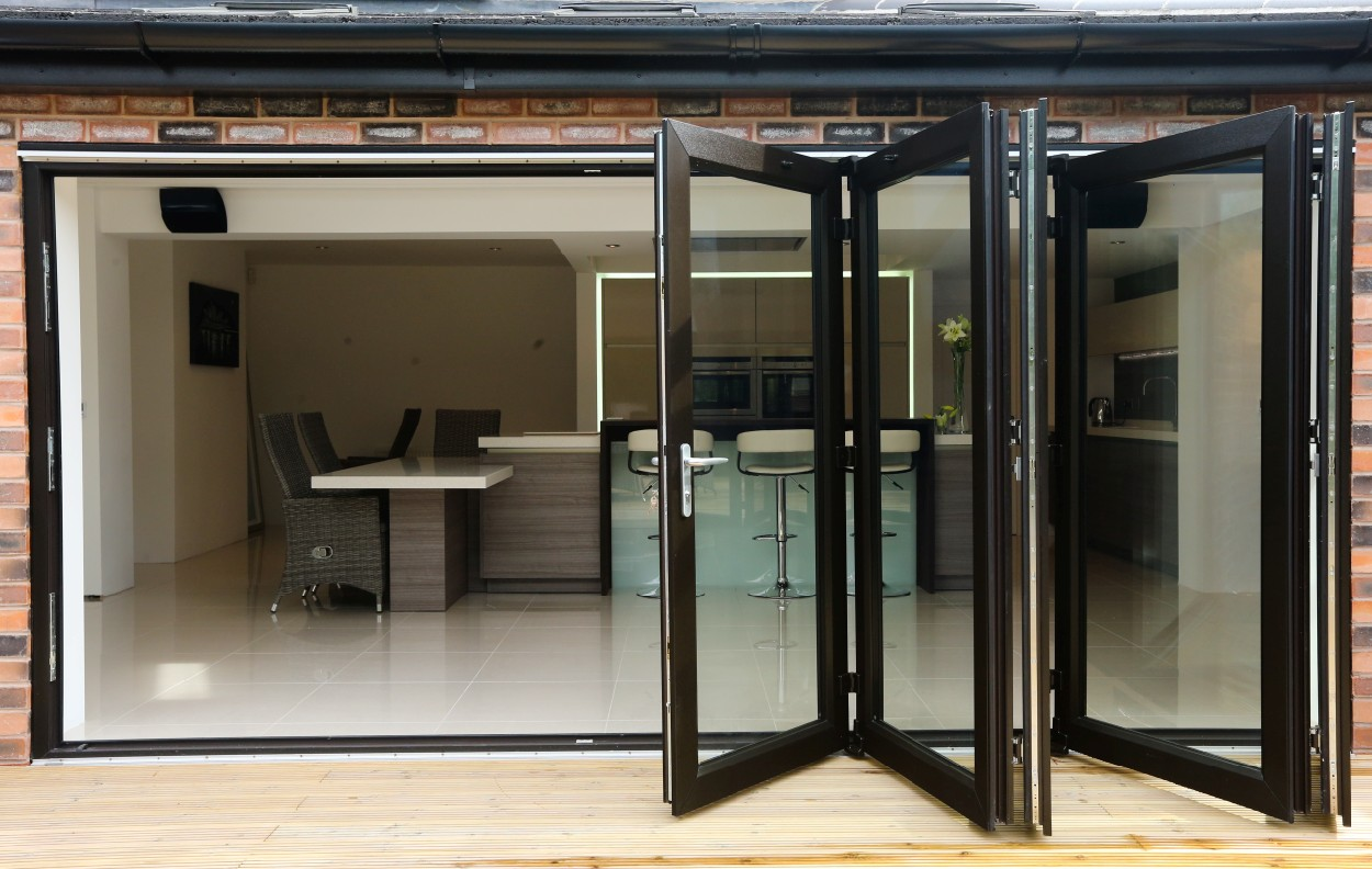 Worsley glass windows bi fold doors for Folding doors