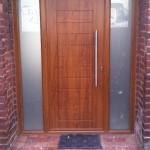 Palermo Style Composite Door in Light Oak