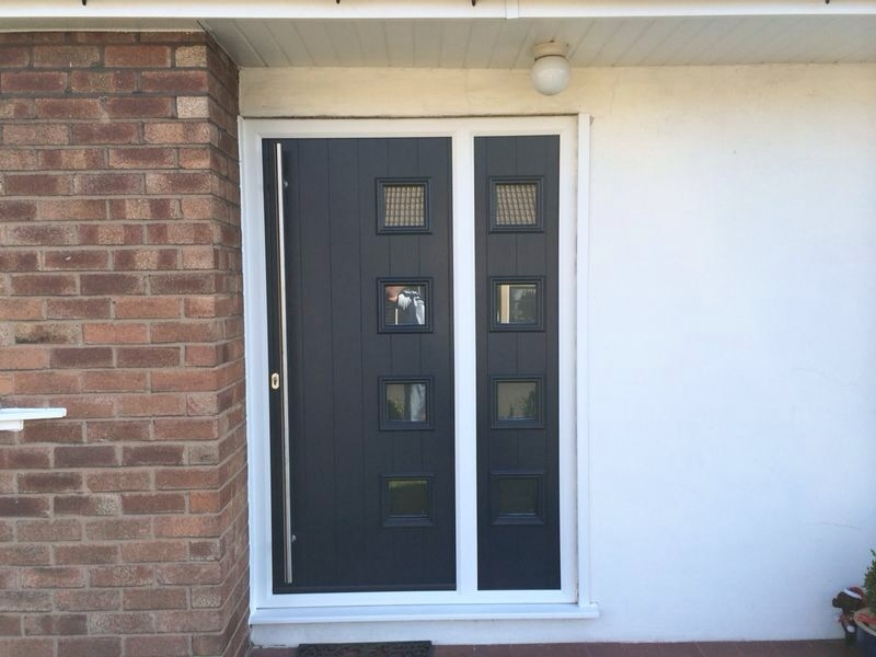 Composite Front Doors With Gl Side Panels - Gl Door Ideas on