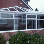 Edwardian Style Conservatory recently installed with blue active self cleaning glass