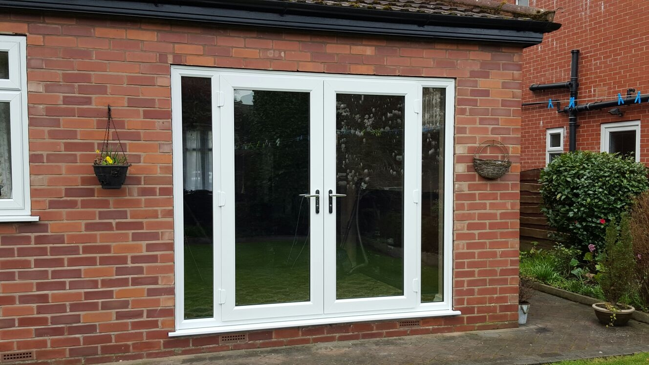 French doors with side frames