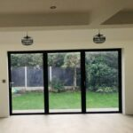 3 Pane Aluminium Bi-fold Door in Black